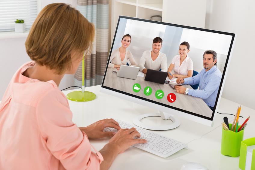 Foto videoconferencia de trabajo